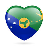 Heart icon of Christmas Island
