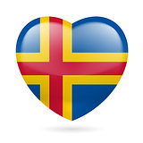 Heart icon of Aland Islands