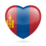 Heart icon of Mongolia