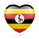 Heart icon of Uganda