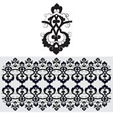 black oriental ottoman design thirty-one