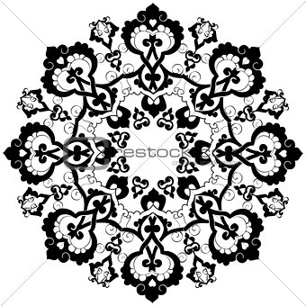 black oriental ottoman design thirty-three