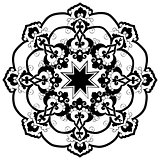 black oriental ottoman design thirty-two