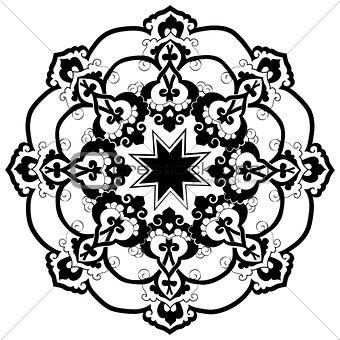 black oriental ottoman design thirty-two