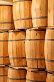 new wooden barrels