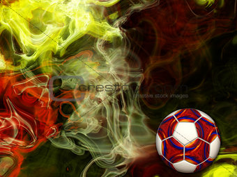 Abstract Football Colors