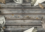 Wooden Decorated Background
