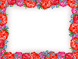 Peony Floral Frame