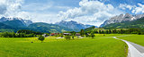 Summer Alpine country panorama (Austria)