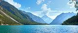 Plansee summer panorama (Austria).