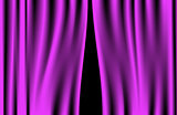Luxury creases purple curtain and many shadows (vector)