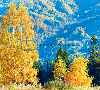 Autumn  mountain Nimchich pass