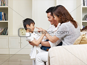 asian parents and son