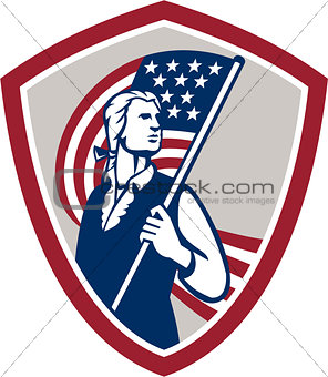 American Patriot Holding USA Flag Shield