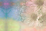 watercolor abstract daisy bouquet