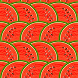 Watermelon fruit. Design seamless colorful pattern