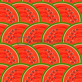 Watermelon fruit. Design seamless colorful pattern