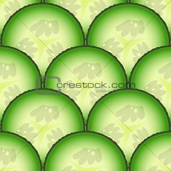 Sliced cucumber vegetables