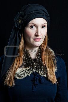 Portrait of stylish attractive woman