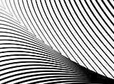 Design monochrome lines illusion background