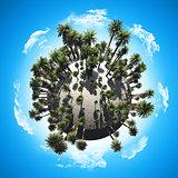 Palm tree globe