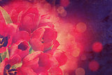 Vintage tulips background