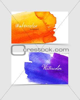 Watercolor design cards