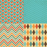 Set of Vintage Geometric Backgrounds with Grunge Texture