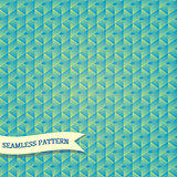 Vector seamless vintage hexagonal mosaic background pattern
