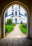 Entrance to St. John Nepomuk church, Czech Republic