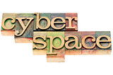 cyberspace in wood type