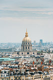 L'Hotel National des Invalides skyline over Paris