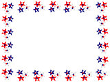 Red, White, Blue Stars Boarder