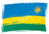 Grunge Rwanda flag
