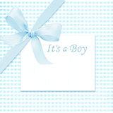 Baby boy arrival card