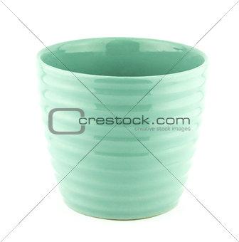 pottery flowerpot