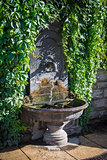 Drinking fountain wall