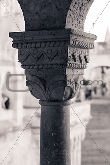 Capitel detail from Buda Castle column