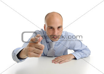 business man points his finger at you