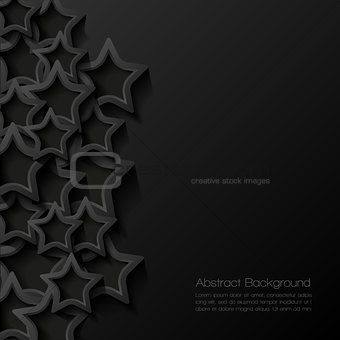 Abstract modern star background. Vector illustration.