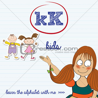 alphabet worksheet of the letter k