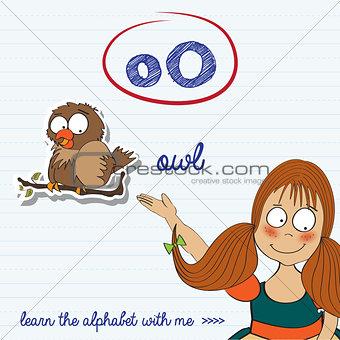 alphabet worksheet of the letter o