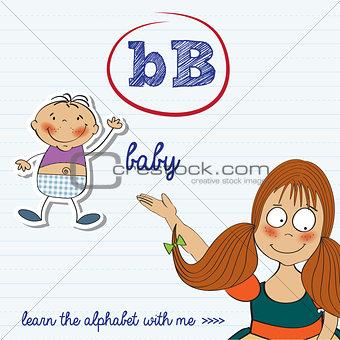 alphabet worksheet of the letter b