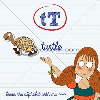 alphabet worksheet of the letter t