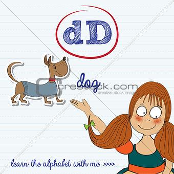 alphabet worksheet of the letter d