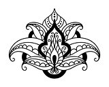 Persian floral design element