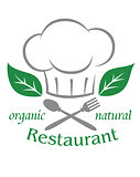 Organic natural restaurant icon