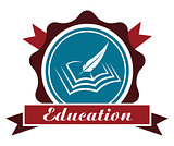 Education icon or emblem