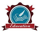 Education icon or emblem