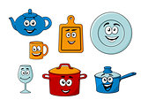 Collection of cartoon kitchenware
